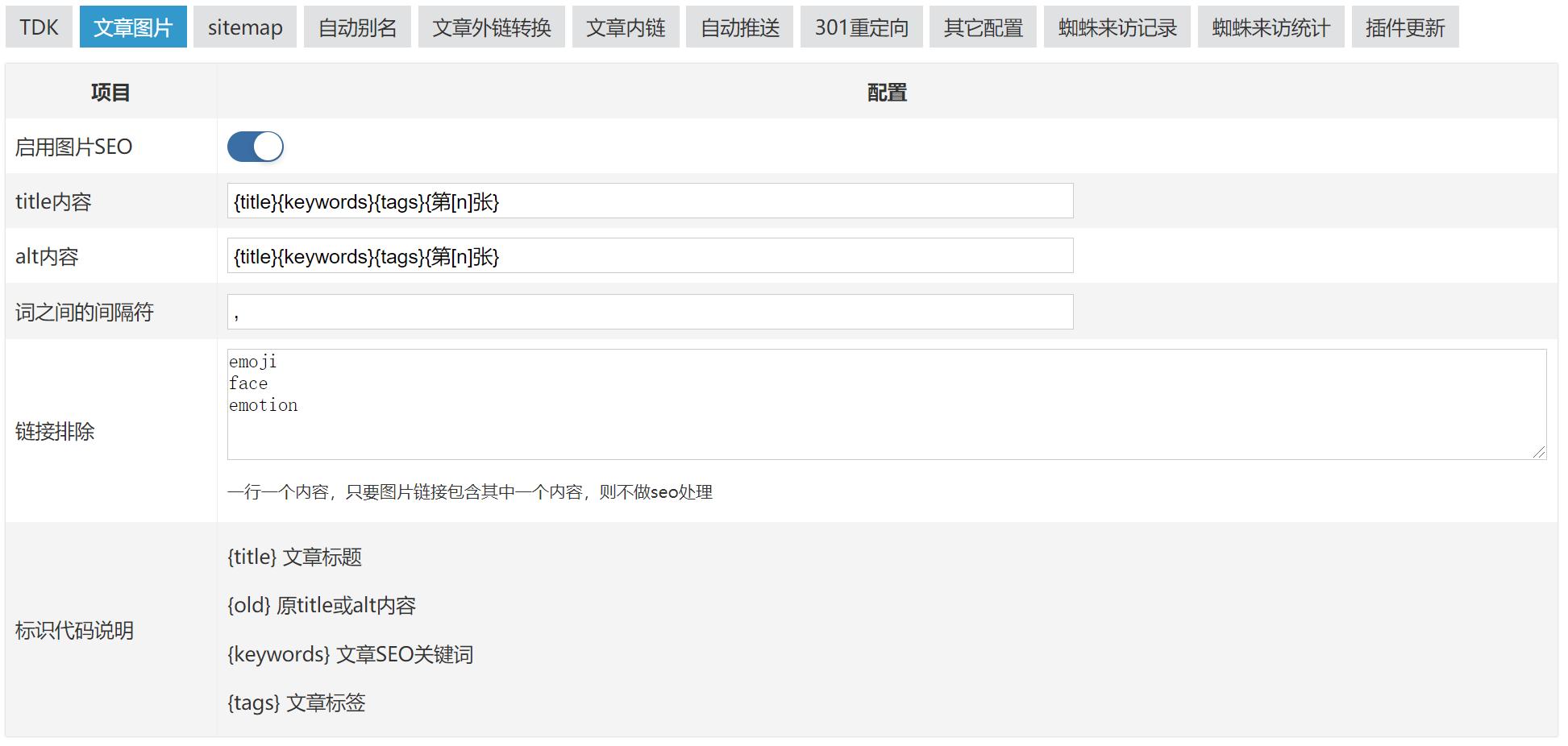 Zblog-超级SEO插件,建站必备,分享,zblog教程,Zblog,主题模板,建站,Zblog插件,超级SEO插件,第7张